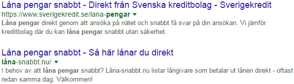 Google visar längre titlar i sökresultaten
