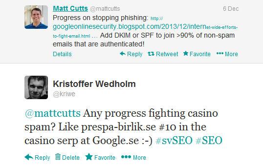 Twitter: Matt Cutts - Kristoffer Wedholm